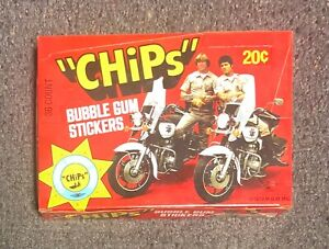 1979 Donruss Chips TV Show 36 Pack Wax Box BCO UNOPENED