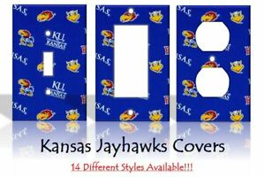 Kansas Jayhawks #2 Light Switch Covers Football NCAA Home Decor Outlet
