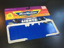 VINTAGE MICRO MACHINES MICRO LIGHTS CARD BACK GALOOB 1989 ***NO CARS***
