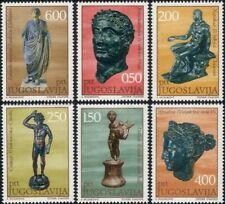Yugoslavia 1971 Bronze Statues/Sculpture/Busts/Art/History 6v set (n42469a)