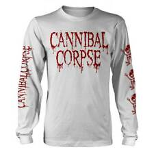 Cannibal Corpse 'Butchered At Birth' White Long Sleeve T shirt - NEW