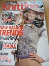 SIMPLY KNITTING MAGAZINE EASTER APRIL KNITS SOCKS BABIES SCARF GENTS LADIES ++++