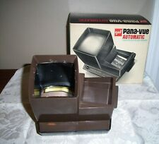 VINTAGE GAF PANA VUE AUTOMATIC LIGHTED 2 X 2 SLIDE VIEWER ORIGINAL BOX Tested