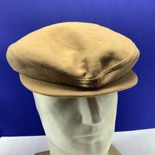 Stetson News boy hat newsboy medium vintage gold lining snap rim vtg tan beige