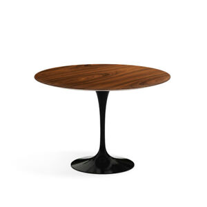 """Saarinen Tulip Dining Table 42"""" (107 cm) in rosewood, with black base by Knoll"""