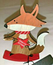 New Christmas desk decoration Fox on seesaw wishing Merry Xmas 3d Figure