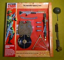 VINTAGE ACTION MAN 40th CARDED SOLDIER INFANTRY SUPPORT WEAPONS & ACCESSORIES