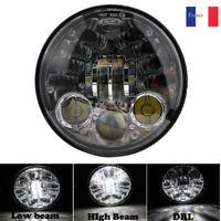 """5.75 """"5 3/4"""" phare rond de LED avec le clignotant ambre pour la moto de Harley"""