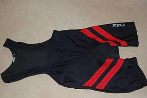 FDX Mens Cycling Jerseys Shortie Bike Suit XL Padded Shorts Black