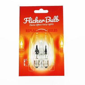 Spare Bulbs for Flicker Bulb String Lights (2 Pack) - E12, 1W, 240V, neon flame,