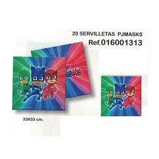 PJ MASKS SUPER PIGIAMINI TOVAGLIOLI 20 Pz 33x33cm FESTA BUFFET COMPLEANNO PARTY