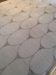 Artistic Transitional art silk /woolTibetan Elegant Gray Rug 6x 9' Hand Knotted