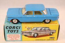 Corgi Toys 229 Chevrolet Corvair dark blue excellent plus in a superb box