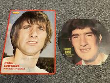 2 x Manchester United 1970 Colour Signed Photos .. Edwards /burns