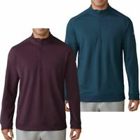 adidas GOLF LONG SLEEVE 1/4 ZIP STRETCH PULLOVER MENS GOLF SWEATER 40% OFF RRP