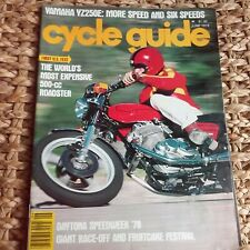 Cycle Guide  1978 Yamaha YZ250E Daytona Speedweek LaVerde 500 Zeta Supercross