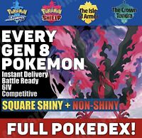 Pokemon Home - ALL SWORD SHIELD Pokemon - Full Living Pokedex SHINY + NON-SHINY!