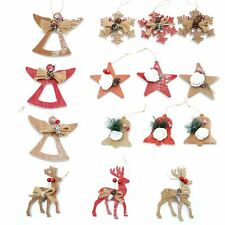 15 Hand Crafted Christmas Tree Hanging String Decorations Ornament Festive Gifts