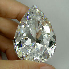 220+ Cts Brilliant Sparkling Pear (40x30 MM) Lab Simulated WhiteDiamond AAA N37