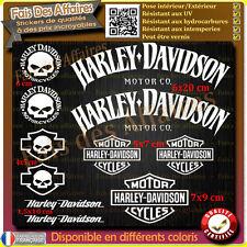 11 stickers autocollant harley davidson skull sportster iron réservoir casque