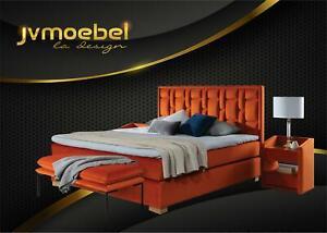 Design Bed Bedroom Set 4tlg. Night Table 2x Bench Beds Modern Furniture