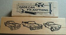 Rubber Stamps x 2, inkadinkado Dads Can Fix Anything, Great Impressions Cars