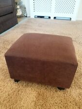 Brown Footstool Footrest Ottomon