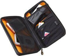 Black Zipper Small Case for Electronics Travel Mesh Organizer Plastic Exterior