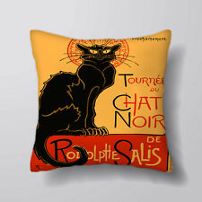 Chat Noir Cat Printed Cushion Covers Pillow Case Cotton Sofa