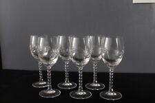 6 verres à liqueur  en cristal d'arques modèle Epi fleury