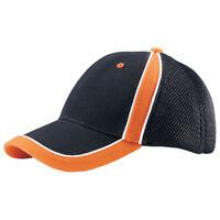 BRUSHED CANVAS SPORTS MESH CAP, Black Orange
