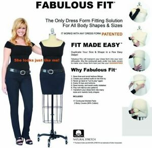 Fabulous Fit Padded 17 pc Fitting System Tailor Overlay Dress Form Kit Size L