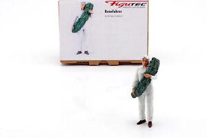 Rennfahrer Figur steht mit Lorbeerkranz 1:18 Figutec Figuren