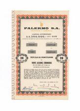 PALERMO - Industrial & Comercial SA – Azione, 20 Pesos, BUENOS AIRES, 5.2.1970