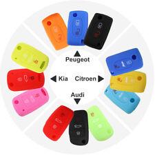 Silicone Car Auto Key Fob Cover Case Protect Shell For Peugeot Kia Audi Citroen