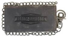 Harley-Davidson Mens Crazy Horse Biker BiFold Tall Leather Wallet MCH8402-BRNBLK