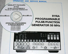 HP Hewlett Packard 8116A Operating, Programming, Service Manuals 4 volumes