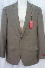 Alfani Mens Blazer Sz 40L Long Brown Khaki Slim Fit Narrow Shoulders Jacket