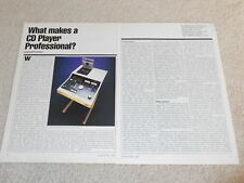 Denon Pro DN-3000f CD Player Review, 1984, 3 pg, Specs