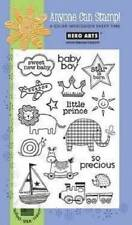 HERO ARTS Clear Stamps BABY BOY # MX264 LITTLE PRINCE  SO PRECIOUS STAR IS BORN