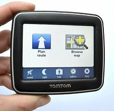 "TomTom Black Ease Car Gps 3.5"" Lcd Set Usa Canada America Maps Lifetime Traffic"