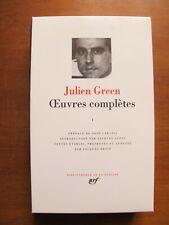 Julien Green - Œuvres Complètes I -  La Pléiade - Edition 1972