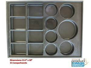 T-0170-B  Black Plastic Parts Tray for Valve and Body Parts 13.5x18, 15sections