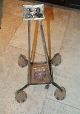 rare vrai ancien lustre art déco bronze argenté  french art deco chandelier