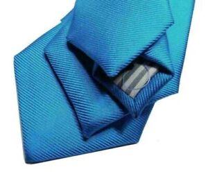 Homme Cravate Turquoise Élégant Nouvelles Avec Soie Made IN Italy Cérémonie