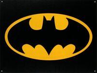 Batman Logo Retro Tin Metal Sign 16 x 13in