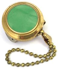 VINTAGE KEY KEEPER BROOCH KETCHCAM KEYCHAIN CHAIN PIN GREEN CELLULOID JEWELRY