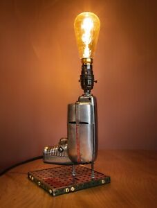 One off up-cycled Table Lamp, Steampunk, 50s electric drill, Meccano PAT tested.