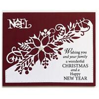 Flower Corner Christmas Craft Cutting Dies Metal Xmas DIY Postcards Poinsettia