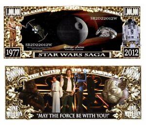 50 Pack Star Wars Saga Death Star Collectible Novelty 1 Million Dollar Bills